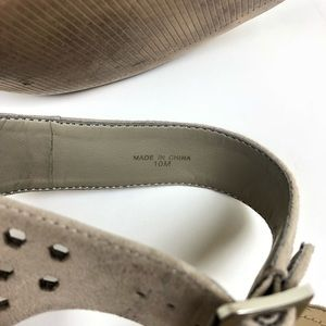 Marc Fisher Shoes - Marc Fisher Sandal Taupe Suede Chunky EUC